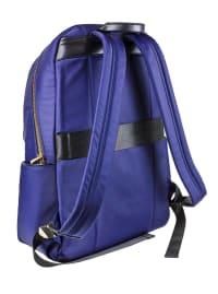 Ellen Tracy Nylon Zippered Workbook Backpack - Navy - Back