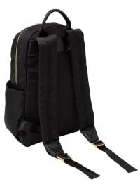 Ellen Tracy Nylon Zippered Backpack - Black - Back