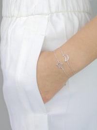 Sterling Silver Star Bracelet - Sterling Silver - Back