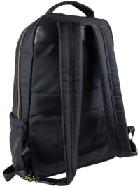 Joan & David Nylon Zippered Workbook Backpack - Black - Back