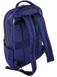 Joan & David Nylon Zippered Workbook Backpack - Navy - Back