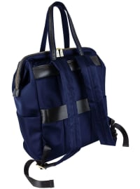 Joan & David Nylon Workbook Backpack - Navy - Back