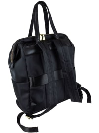 Joan & David Nylon Workbook Backpack - Black - Back