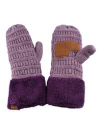 CC® Multi Color Mittens - Violet / Purple - Back