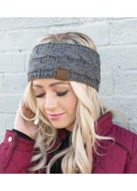 CC® Confetti Head Wrap - Dark Melange Grey - Back