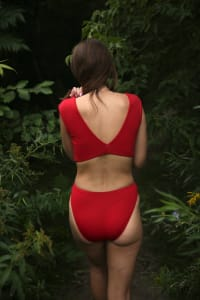 Heather Bottom - Plus - Red - Back