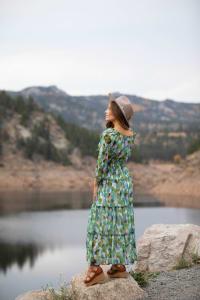 Veronica Maxi Peasant Dress - Back