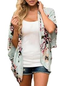 Summer Kimono - Plus - Green - Back