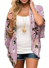 Summer Kimono - Plus - Lilac - Back
