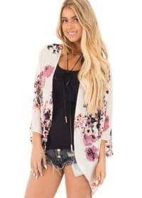 Summer Kimono - Plus - Rose - Back