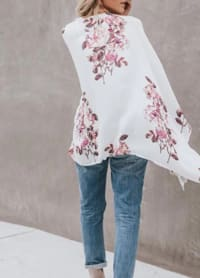 Berry Print Kimono - Plus - Back