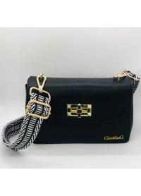 Sidekick Leather Shoulder Bag - Black - Back