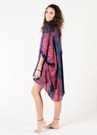 Tulum Mandala Kimono Cover Up - Pink / Blue / Purple - Back
