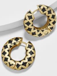 Ely Earrings - Black - Back