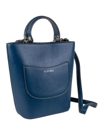 Ellen Tracy Smooth PU Quilted Top Handle Shopper W. Crossbody - Teal - Back