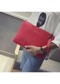 Bailey Oversized Pouch - Red - Back