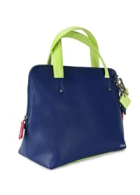 Elisa Leather Handbag - Sapphire - Back