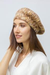 Adrienne Vittadini Fall Beret Hat - Brown - Back