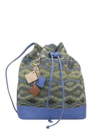 Lola Pull Bag - Ocean Blue - Back