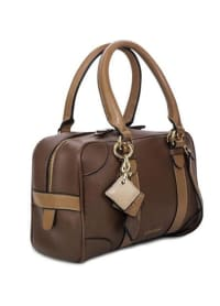 Carlotta Leather Handbag - Chocolate / Caramel - Back