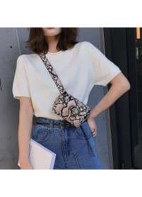 Python Belt Bag - Pink - Back