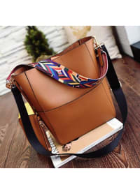 Pocket Tote - Brown - Back