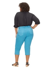 NYDJ Capri Pants with Side Slits - Turquoise Trail - Back