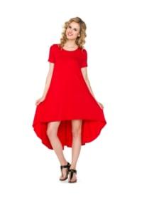 Comfy Dress - Red - Back