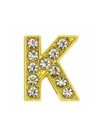 Pave Letter K - Gold Charm - Gold - Back