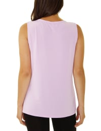 Sleeveless Tank With Grommets - Dusty Lavender - Back