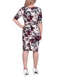 Elbow Sleeve Slim Dress - Back