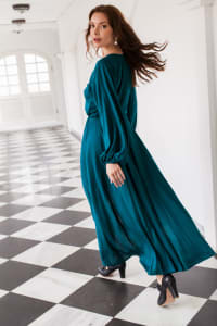 Linda Dress - Emerald - Back
