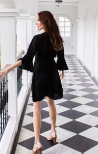 Melrose Dress - Black - Back