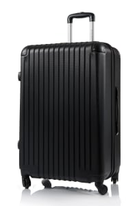 Champs 2-Piece Tourist Hardside Luggage Set - Black - Back