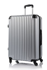 Champs 2-Piece Tourist Hardside Luggage Set - Silver - Back