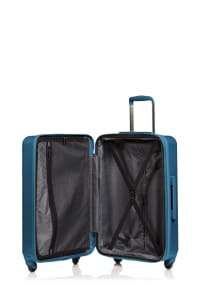 Champs 3-Piece Grid Hardside Luggage Set - Blue - Back