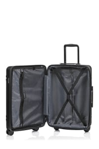 Champs 3-Piece Summit Hardside Luggage Set - Black - Back