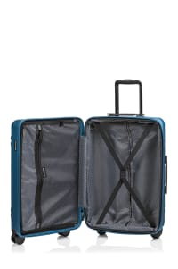 Champs 3-Piece Summit Hardside Luggage Set - Blue - Back