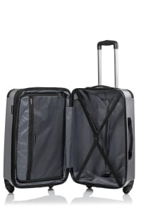 Champs 3-Piece Global Hardside Luggage Set - Grey - Back
