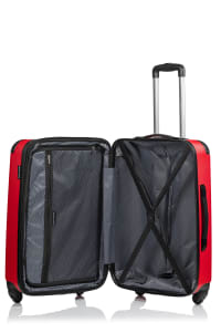 Champs 3-Piece Global Hardside Luggage Set - Red - Back
