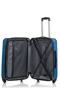 Champs 3-Piece Global Hardside Luggage Set - Blue - Back