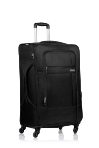 Champs 3-Piece Pacific Softside Luggage Set - Black - Back