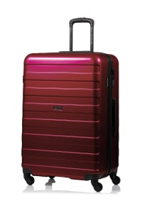 Champs 3-Piece Ice Hardside Luggage Set - Red - Back
