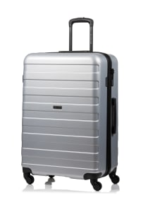 Champs 3-Piece Ice Hardside Luggage Set - Silver - Back