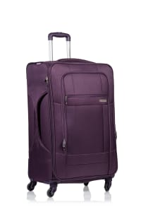 Champs 3-Piece Pacific Softside Luggage Set - Purple - Back
