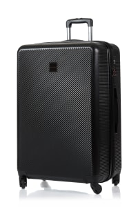 Champs 3-Piece Iconic Hardside Luggage Set - Black - Back