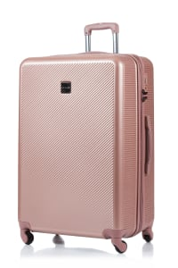 Champs 3-Piece Iconic Hardside Luggage Set - Rose Gold - Back