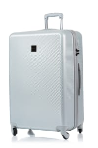 Champs 3-Piece Iconic Hardside Luggage Set - Silver - Back
