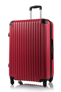 Champs 2-Piece Tourist Hardside Luggage Set - Red - Back