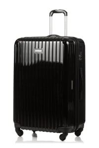 Champs 3-Piece Rome Hardside Luggage Set - Black - Back
